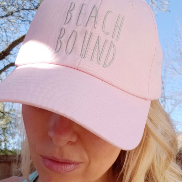 e736d34ac529b2 Beach Bound Pink Baseball Cap Beach Cute Sun Hat. NWT. Accessory Depot